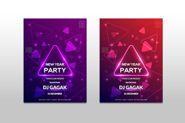 Kolorowy plakat muzyczny ze spektrum dźwięku trójkąta. kolorowy baner na każde wydarzenie