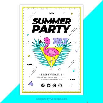 Kolorowy plakat party lato