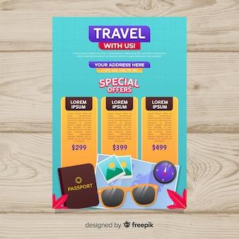 Kolorowy plakat podróżny szablon