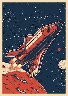 Kolorowy plakat przestrzeni