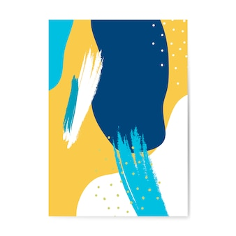 Kolorowy plakat styl wektor memphis