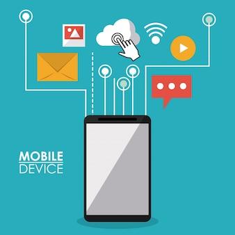 Kolorowy plakat urządzenia mobilnego
