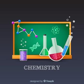 Kolorowy płaski chemii tło