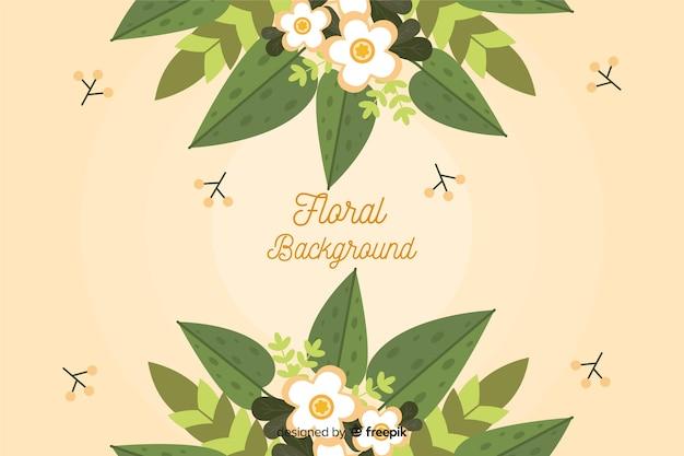 Kolorowy płaski kształt kwiatowy tło