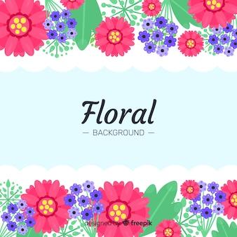 Kolorowy płaski kwiatowy tło