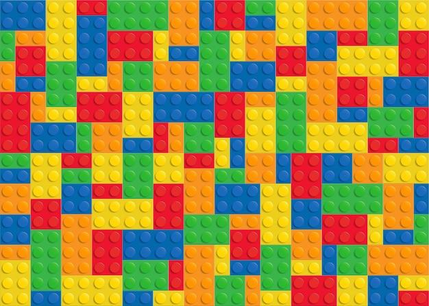 Kolorowy plastikowy blok budowlany