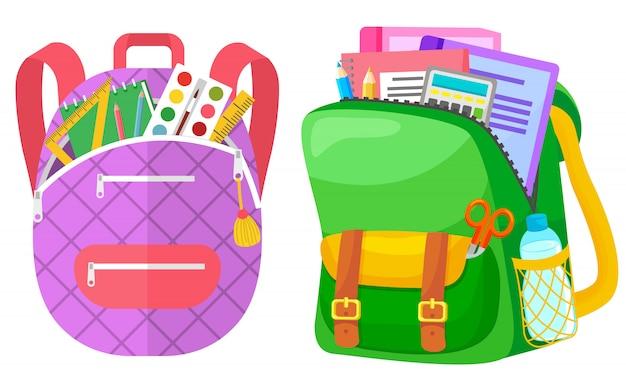 Kolorowy plecak szkolny powrót do szkoły