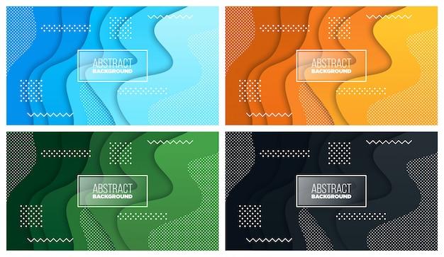 Kolorowy płyn i geometryczne tło z płynnymi kształtami gradientu