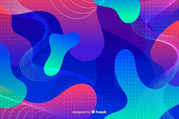 Kolorowy płyn kształtuje futurystycznego tło