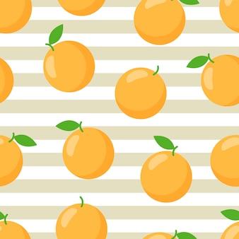 Kolorowy pomarańczowy tropikalny druk. modny nadruk.