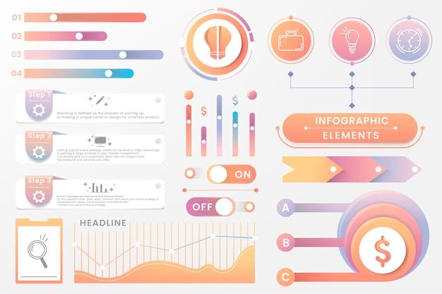 Kolorowy projekt elementu infografiki