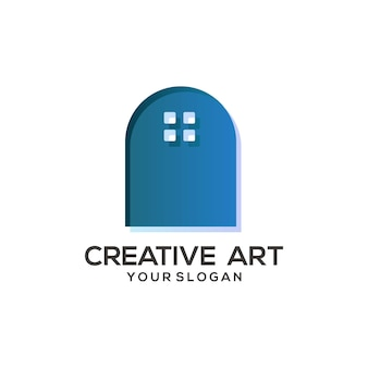 Kolorowy projekt gradientu logo domu