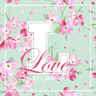 Kolorowy projekt graficzny wiosennych i letnich kwiatów na koszulkę, modę, kwiatowe nadruki