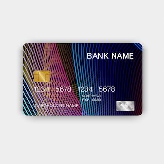 Kolorowy projekt karty kredytowej