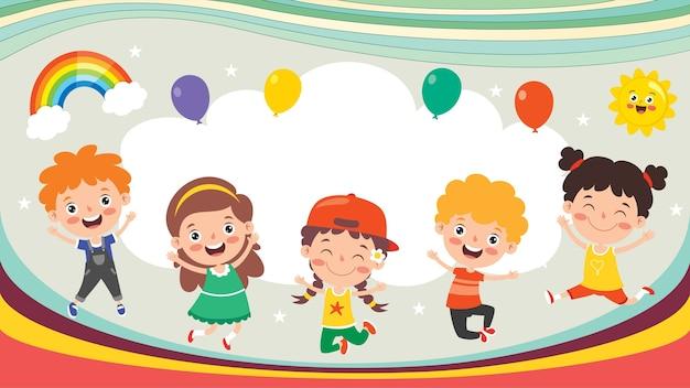 Kolorowy projekt koncepcyjny dla dzieci