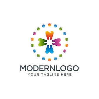Kolorowy projekt logo dentystycznego