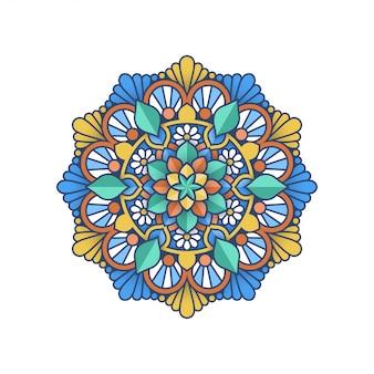 Kolorowy projekt mandali