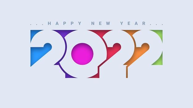 Kolorowy projekt typografii szczęśliwego nowego roku 2022