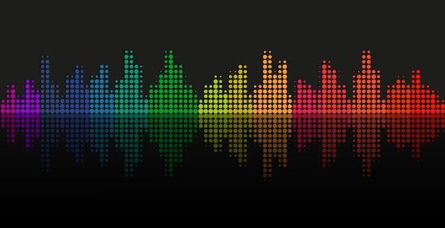 Kolorowy projekt wektorów korektora fali dźwiękowej