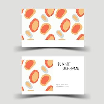 Kolorowy projekt wizytówki karta kontaktowa dla firmy ilustracja wektorowa dwustronna