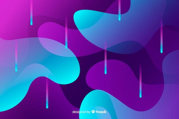 Kolorowy przepływ kształtuje tło