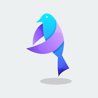 Kolorowy ptak wektor
