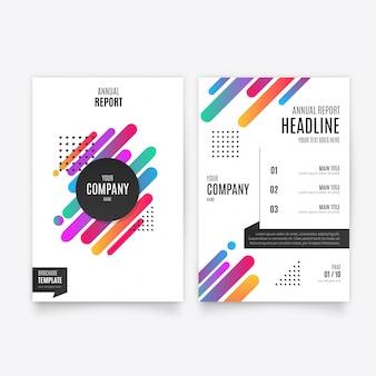 Kolorowy raport roczny szablon broszury