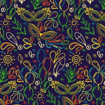 Kolorowy ręcznie rysowane brazylijski karnawał
