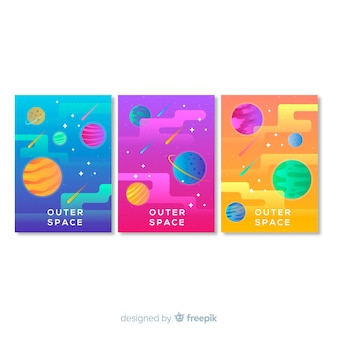 Kolorowy ręka rysujący galaktyka plakat