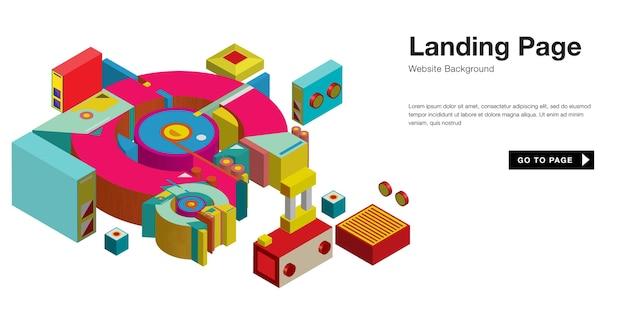 Kolorowy retro starodawny projekt strony docelowej