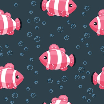 Kolorowy rybi bezszwowy wzór