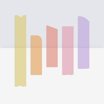 Kolorowy samoprzylepny papier maskujący taśmy samoprzylepne samoprzylepne