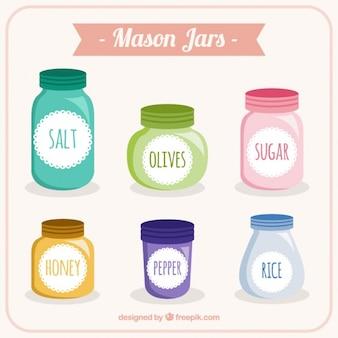 Kolorowy słoiki mason