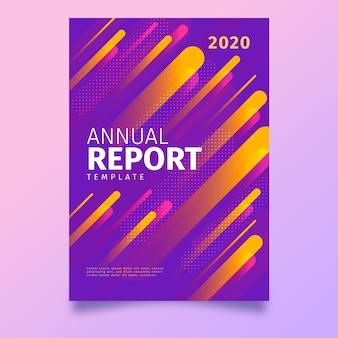Kolorowy streszczenie rocznego raportu szablon projektu