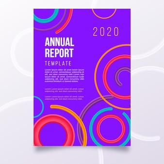 Kolorowy streszczenie rocznego raportu szablon