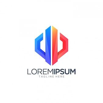Kolorowy streszczenie szablon logo
