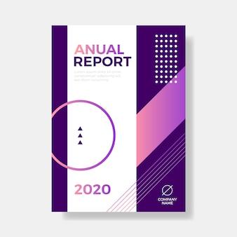 Kolorowy streszczenie szablon raportu rocznego