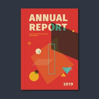 Kolorowy streszczenie szablon roczny raport