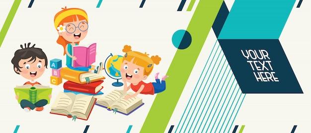 Kolorowy streszczenie transparent dla edukacji dzieci