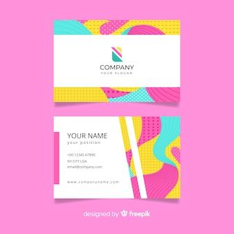 Kolorowy streszczenie wizytówki szablon