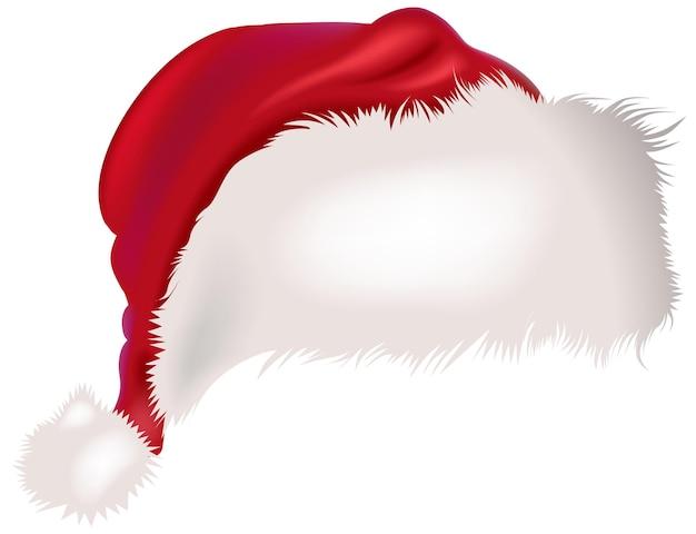 Kolorowy świąteczny kapelusz na białym tle