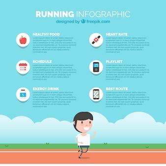 Kolorowy szablon infograficzny