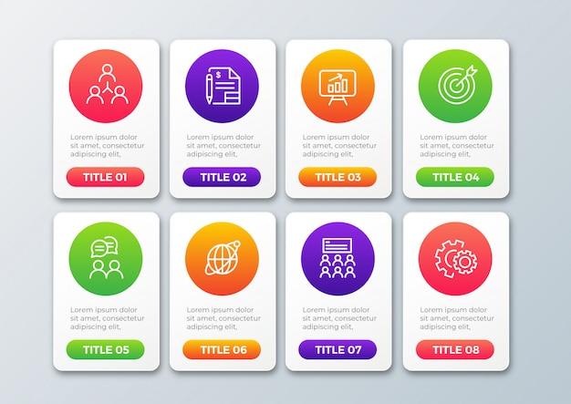 Kolorowy szablon infographic kroki