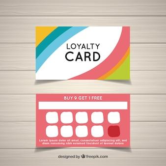 Kolorowy szablon karty lojalnościowej