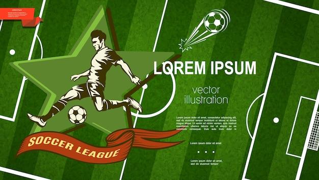 Kolorowy szablon ligi piłki nożnej
