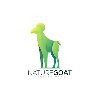 Kolorowy szablon logo natura koza