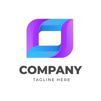 Kolorowy szablon logo z abstrakcyjnym wektorem