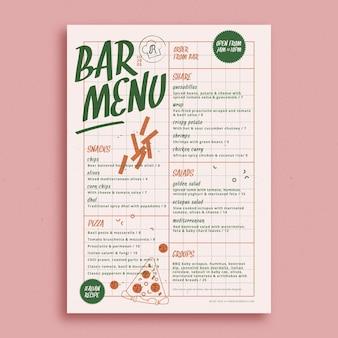 Kolorowy szablon menu restauracji