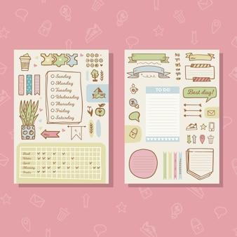 Kolorowy szablon planowania dziennika punktorów