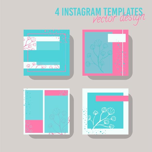 Kolorowy szablon postu w mediach społecznościowych, do sklepu i mody. minimalistyczna koncepcja geometryczna.